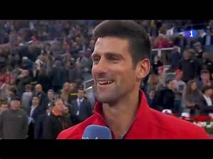 Interview with Novak Djokovic for Spanish TV after Madrid ...
