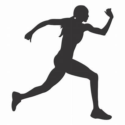 Mujer Silueta Silhouette Corriendo Female Running Atleta