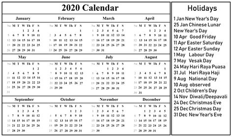 singapore calendar excel word printable