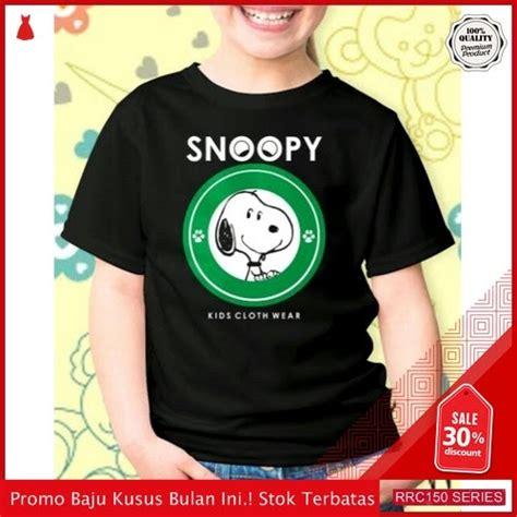 rrcb baju fashion anak snoopy logo green fashion bmgshop