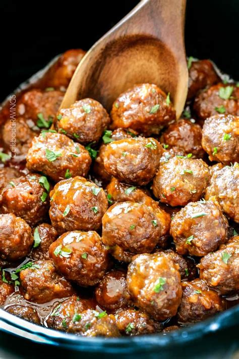 meatballs cooker slow buffalo honey sauce recipe appetizer sweet juicy rice meal easy everyone crazy go simmered tantalizing tender delicious