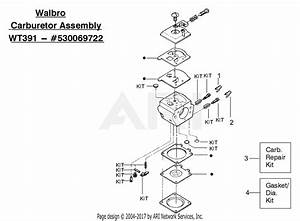 Poulan Pp221 Gas Chain Saw Type 4  221 Gas Chain Saw Type 4 Parts Diagram For Carburetor