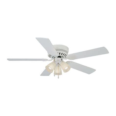 lowes flush mount white ceiling fans shop design house homestead 52 in white indoor flush mount