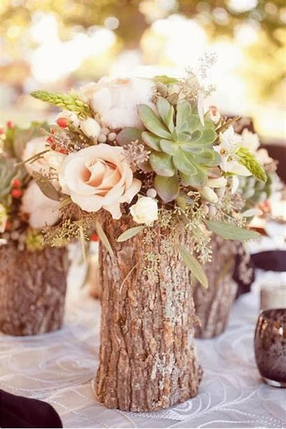 Flower Arrangement Spring Welcome Vases Log Woodsy