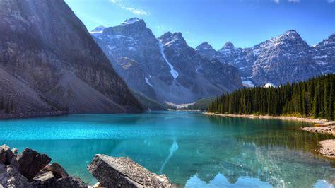 Wallpaper Lake, 4k, HD wallpaper, Mountains. Forest, Pine ...