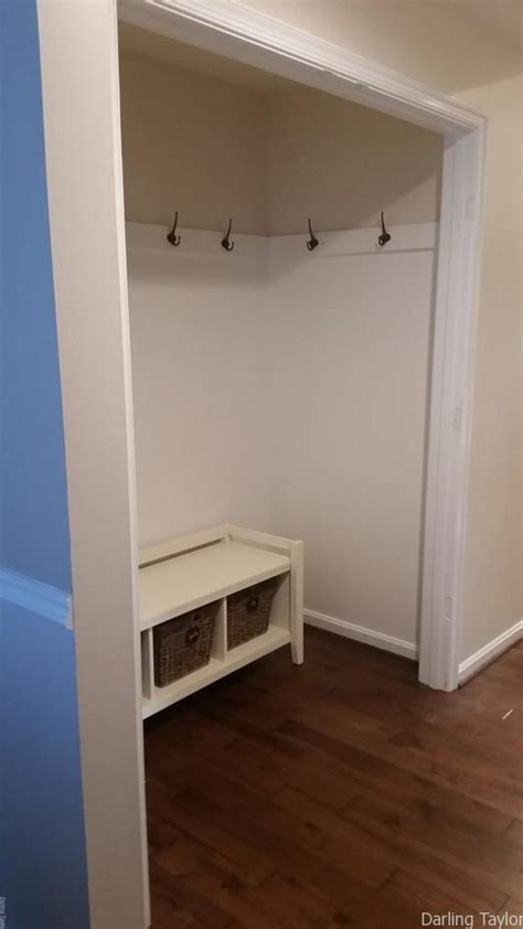 how to turn a closet into a mudroom for less than 30