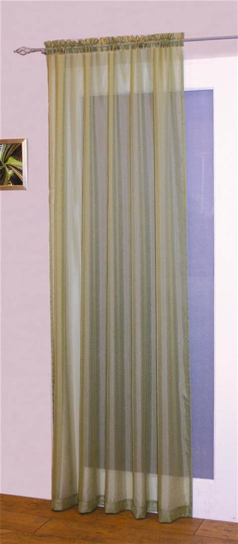 pair of voile slot top rod pocket curtain panels many