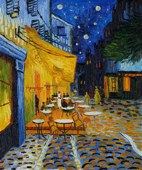 cafe terrace at cafe terrace at by vincent gogh pb 012 147