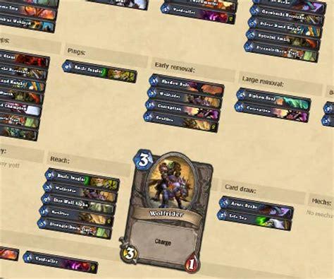 hearthstone arena deck builder help hearth arena beyond the tierlist