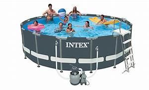Intex Piscine Tubulaire Ronde : piscine tubulaire ronde intex 4 88x1 22 m ultra frame ~ Dailycaller-alerts.com Idées de Décoration