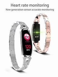 Ak16 Women Smart Band Fitness Bracelet Heart Rate Monitor