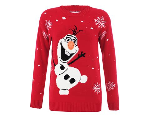 red olaf xmas jumper christmas jumpers
