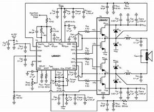 Schematic  U0026 Wiring Diagram  Audio Power Amplifier 170w