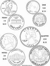 Money Coloring Pages Printable Fake Play Coins Getcolorings Getdrawings sketch template