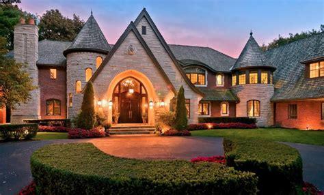 tudor style brick mansion  bloomfield township michigan