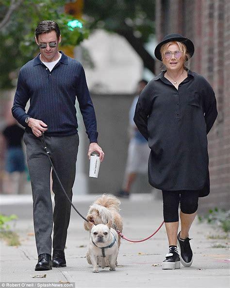hugh jackman   wife deborra lee furness walk