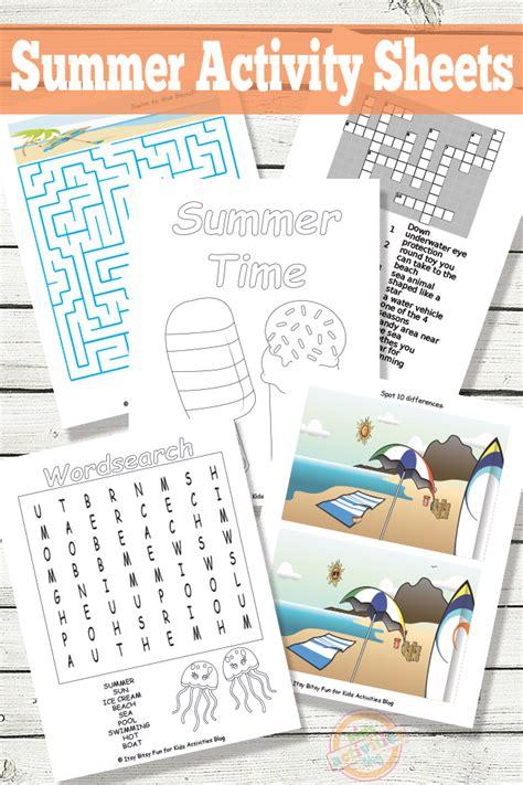 printable summer activity sheets