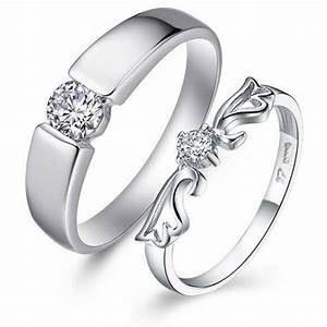 Platinum wedding rings for women with round cut for Women s platinum wedding rings
