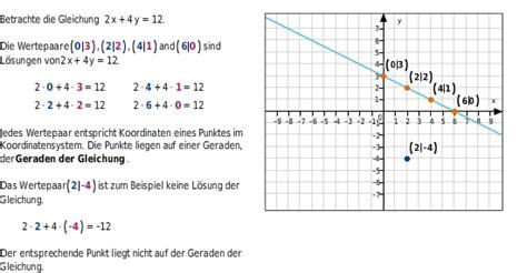 lineare gleichungen mit zwei variablen bettermarks