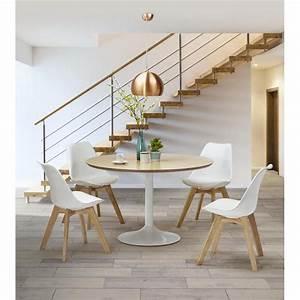 Table Style Scandinave : chaise contemporaine style scandinave fjord blanc ~ Teatrodelosmanantiales.com Idées de Décoration