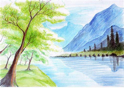 landscape  color pencil nerd landscape pencil