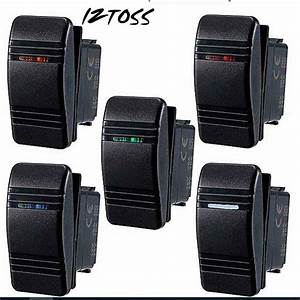 Iztoss Car Styling Boat Rocker Switch Spst On Off Switcher