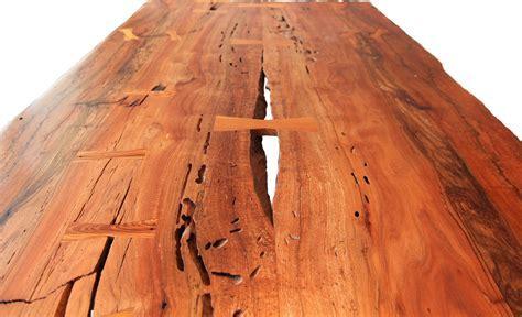 Hand Made Bookmatched Laurel Oak Slab Table by Hogeathog