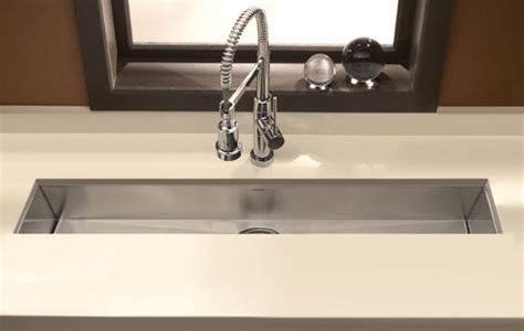 houzer zero radius undermount trough bar prep sink