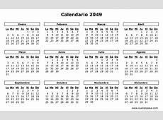 Calendario 2049