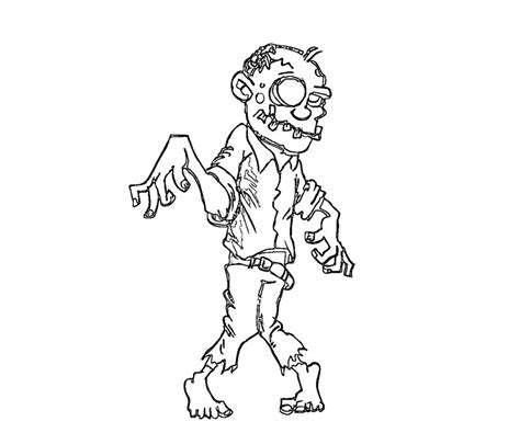 printable zombies coloring pages  kids