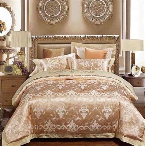 luxury gold bedding sets duvet cover set jacquard