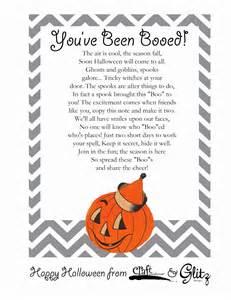 You've Been Booed Halloween Poem