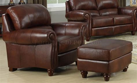 Brown Loveseat by Leather Italia Brown Seville Sofa Loveseat Set W Options
