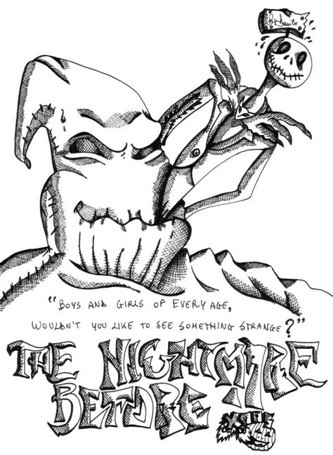 nightmare  christmas coloring pages  print