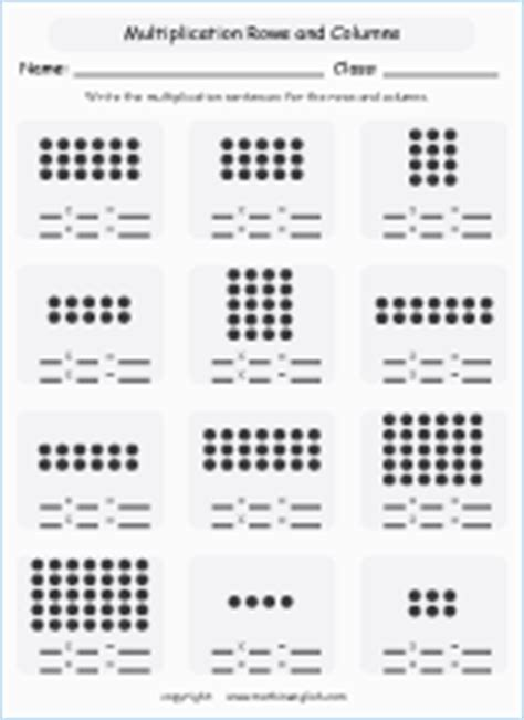 grouping  multiplying objects printable grade  math
