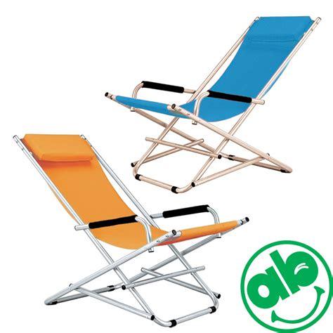 sdraio per terrazzo sedia sedie sdraio in acciaio 2pz colore arancio o avion