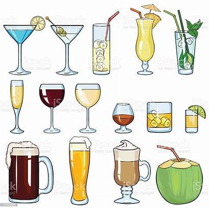 Cartoon Alcohol Drinks Cocktails Vector Drink Cocktail