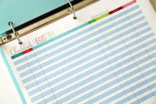 Budget Binder Checkbook Register Printable