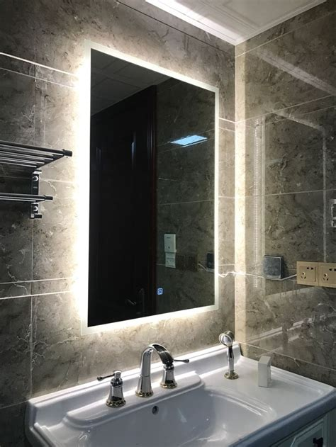 box diffusers led backlit bathroom mirror vanity square
