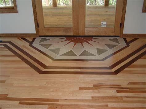 1 Hickory With A Walnut Border Ozark Hardwood Flooring