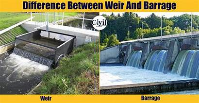 Weir Between Barrage Difference