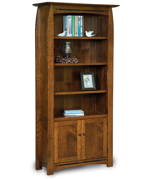 Office Bookcases With Doors by Boulder Creek Bookcase With Doors Amish Direct Furniture