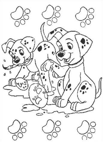 ausmalbild dalmatiner beim zeichnen ausmalbilder