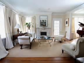 Elegant White Living Room With Neutral Furnishings Hgtv