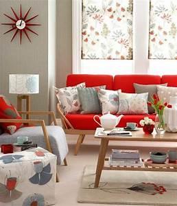 Rotes Sofa Welche Wandfarbe : rotes sofa ins innendesign einbeziehen inspirierende rote sofas ~ Bigdaddyawards.com Haus und Dekorationen