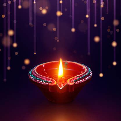 diya oil lamp  hanging light background diwali