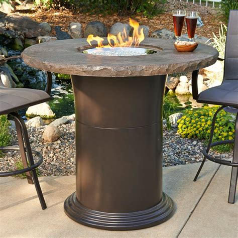 fire pit bar table outdoor greatroom 48 in colonial bar height fire pit