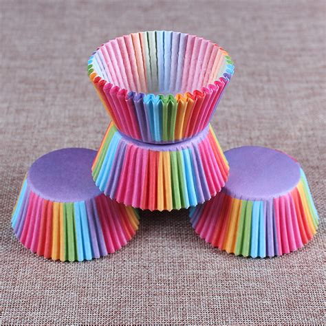 cupcake kitchen accessories uk 100 rainbow cupcake cases chadstore co uk 6324