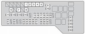 Toyota Avalon  2008 - 2010  - Fuse Box Diagram