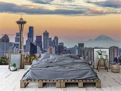 Seattle Skyline Peel Stick Mural Removable